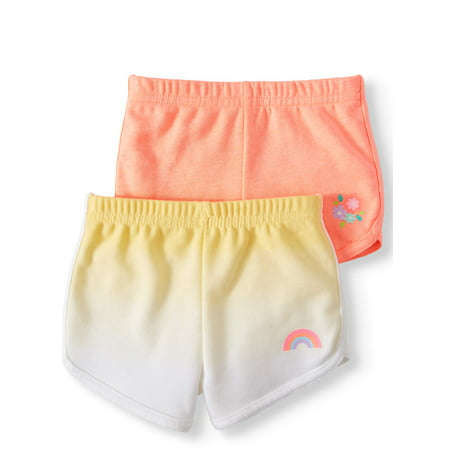 Garanimals French Terry Dolphin Shorts, 2pc Multi-Pack (Baby Girls)