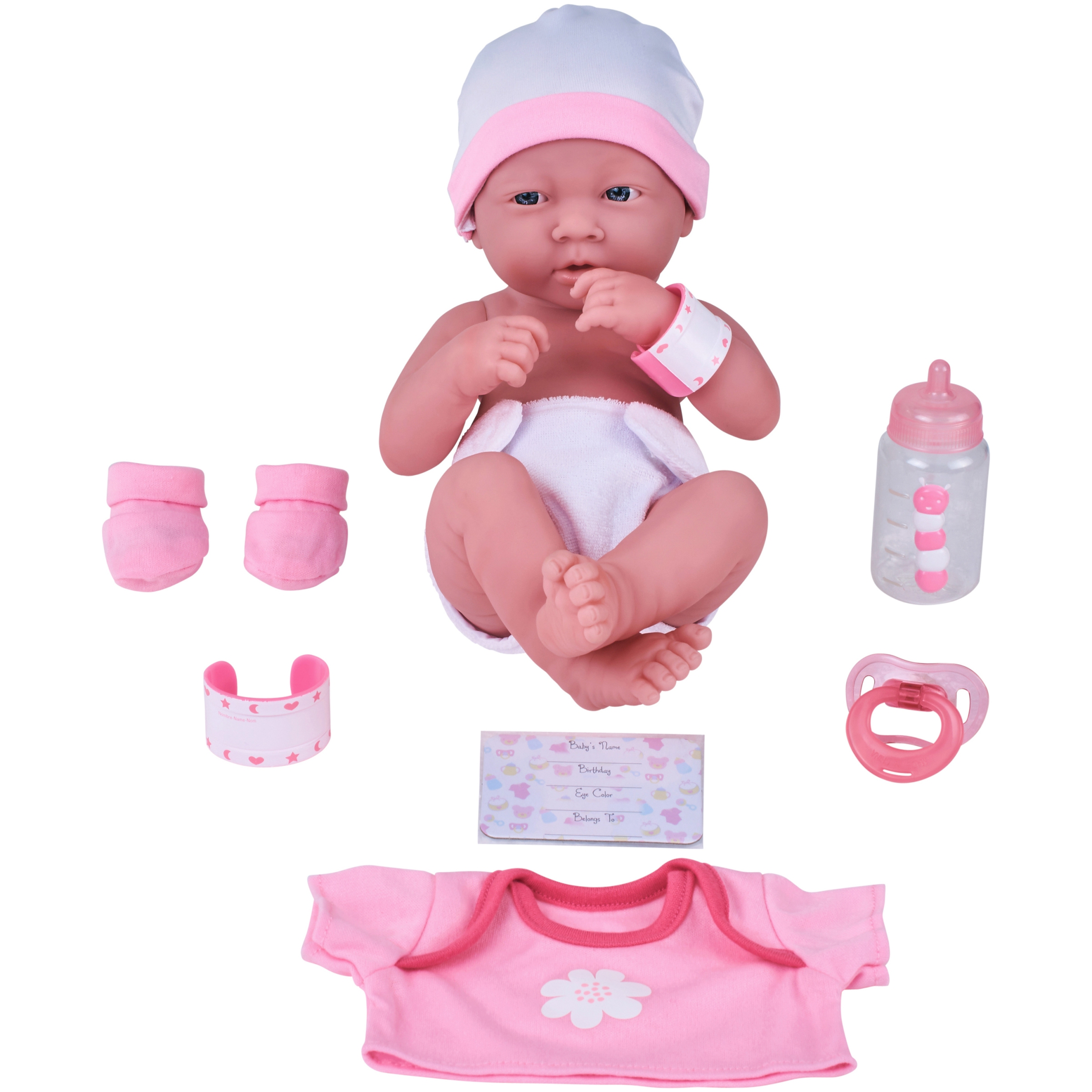 """My Sweet Love 14"""" Newborn Girl Baby Doll with Accessories and ID Bracelet by Wal-Mart Stores, Inc."""