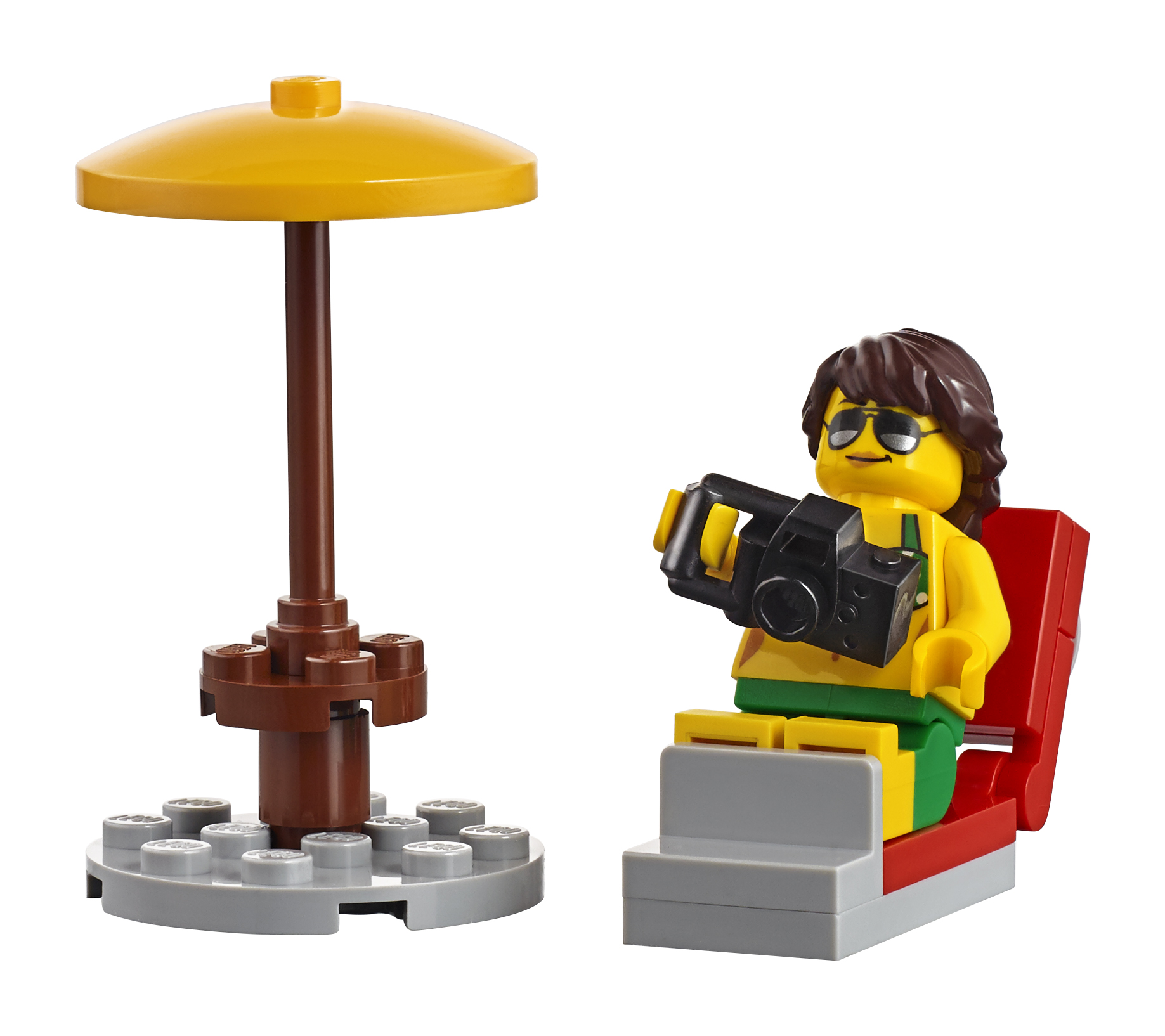 NEW LEGO GIRL MINIFIGURE WITH SAND CASTLE FROM 60153 FUN AT THE BEACH