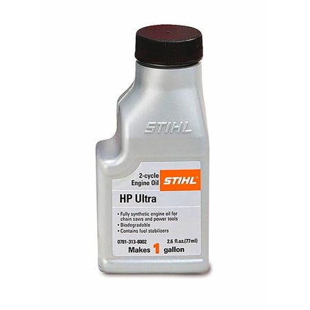 STIHL 0781 313 8002 2.6 Ounce High Performance Ultra 2 Cycle Engine Oil, 1 2 Cycle High Performance Oil