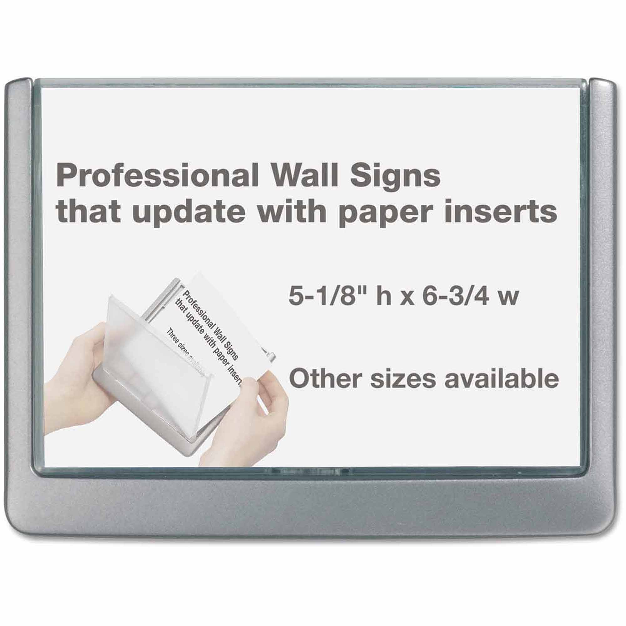 Durable Click Sign Holder For Interior Walls, Graphite