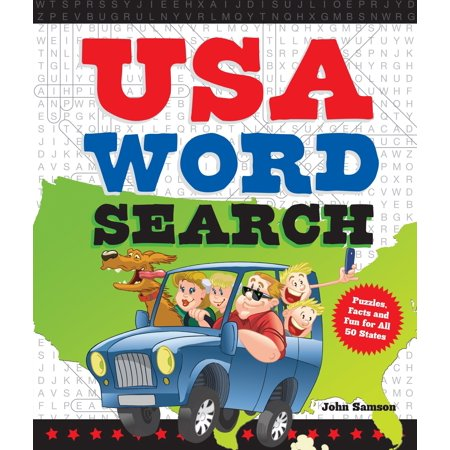 USA Word Search : Puzzles, Facts, and Fun for 50 States
