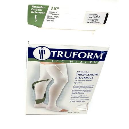 f28dd3eb616 Truform - Truform Anti-Embolism Thigh High Open-Toe Stockings