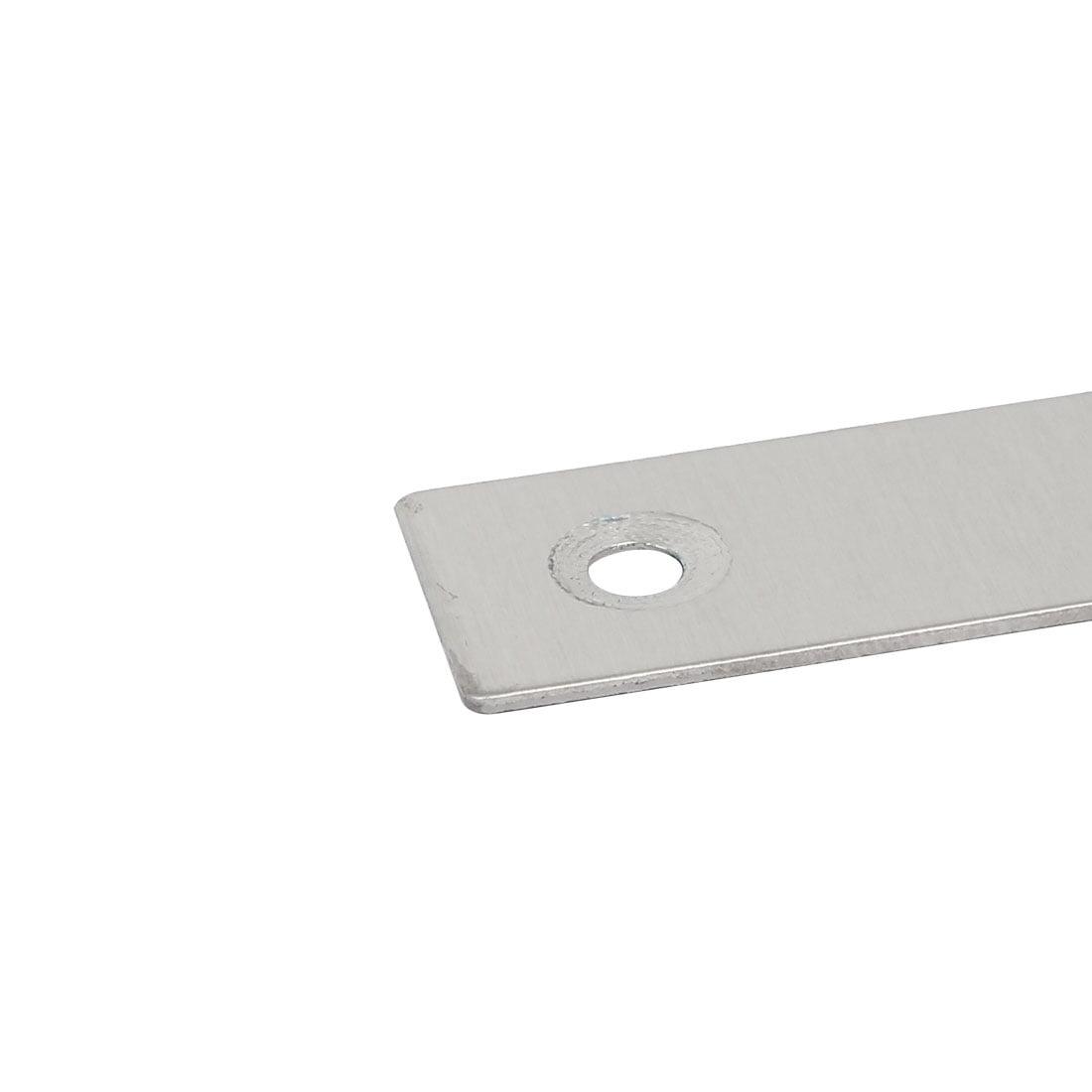 80mmx80mmx1mm Metal T Shaped Flat Repair Plates Corner Brace Bracket 10pcs - image 1 de 3