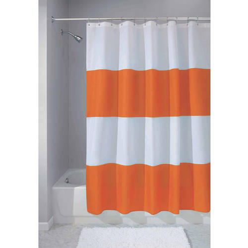 InterDesign Zeno Fabric Shower Curtain, Black & White, Various Sizes by Generic
