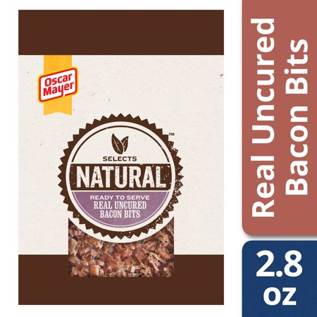 (2 Pack) Oscar Mayer Select Bacon Bits, 2.8 oz (Oscar Mayer Premium Shaved Smoked Ham Nutrition)