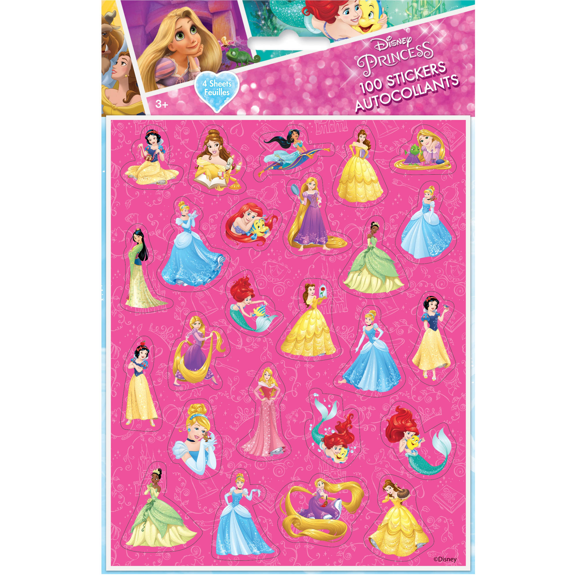 Disney Princess Sticker Sheets, 4ct