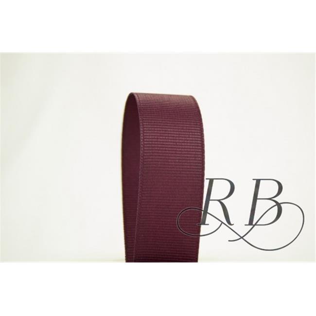 Ribbon Bazaar 5272 0.38 in. Solid Grosgrain Ribbon, Sangria - 50 Yards