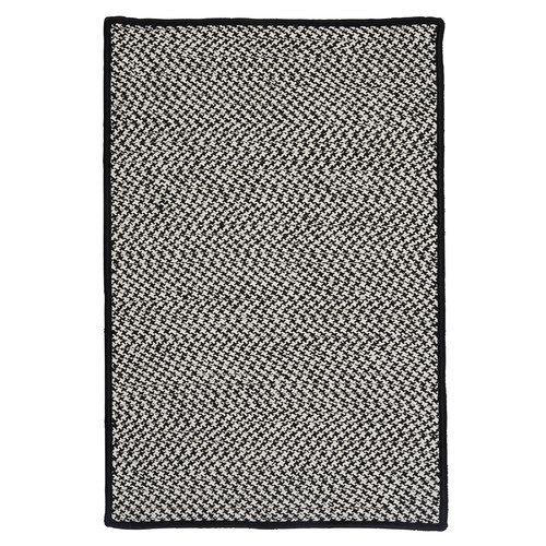 Colonial Mills Outdoor Houndstooth Tweed Black Rug