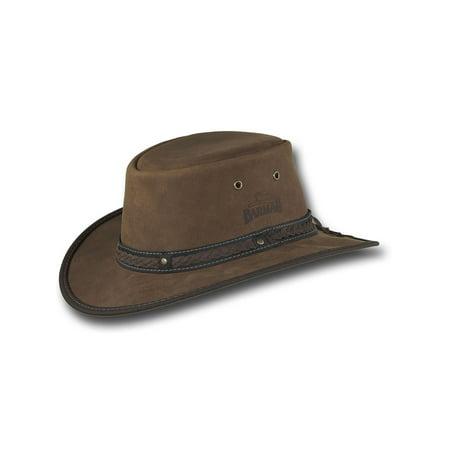Barmah Hats Foldaway Gaucho Leather Hat - Item 2060 - Spanish Gaucho Hat