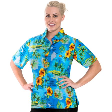 Collar Cool Top Womens Short Sleeves Button Down Hawaiian Wear Beachwear  Shirt Fathers Day Gifts Spring Summer 2017