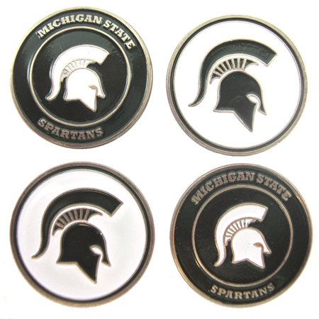 - Michigan State Spartans NCAA Double SidedMSU Golf Ball Markers (4 Pack), 4 Double-Sided Golf Ball Markers By Waggle Pro Shop,USA