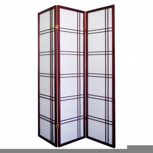 3-Panel Room Divider, Cherry