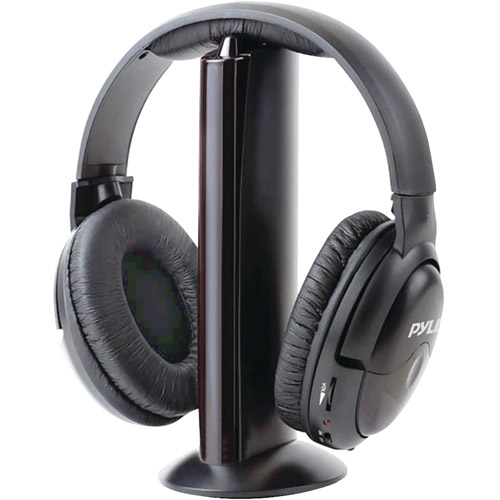 Pyle PHPW5 Professional 5-In-1 Wireless Headphone System, Black