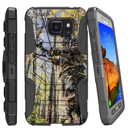 [ Galaxy 7-Active Case ][ G891-Active] Samsung S7 Active [Armor Reloaded] Rugged Case with Kickstand and Belt Clip - Bow and Arrow Hunter thumbnail