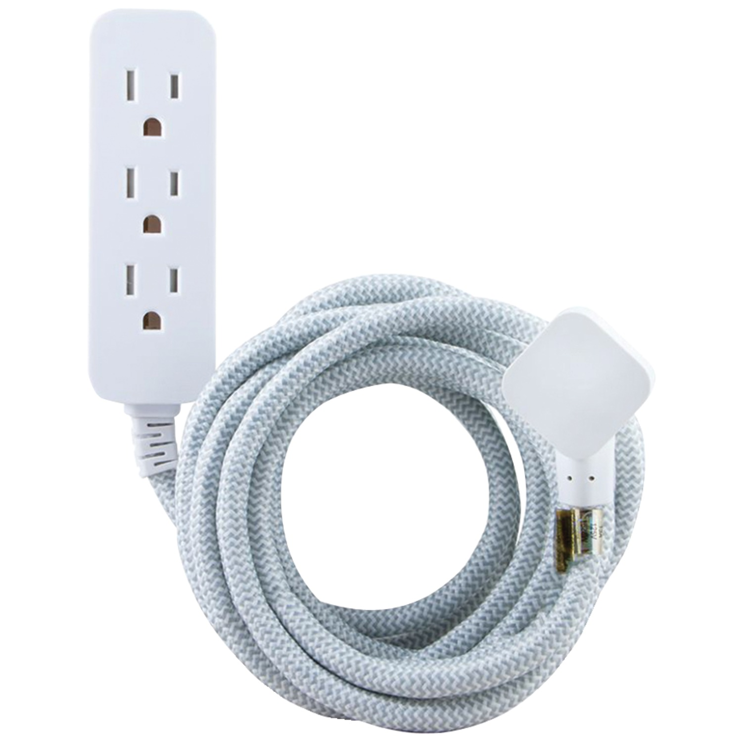 Cordinate 37592 3-outlet Grounded Surge Protector, 10ft Cord