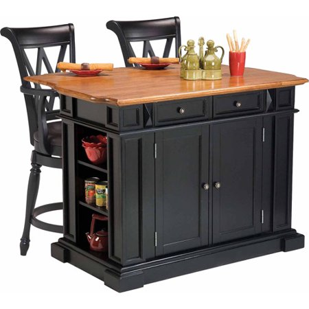 Home Styles Traditions Kitchen Island With 2 Deluxe Bar