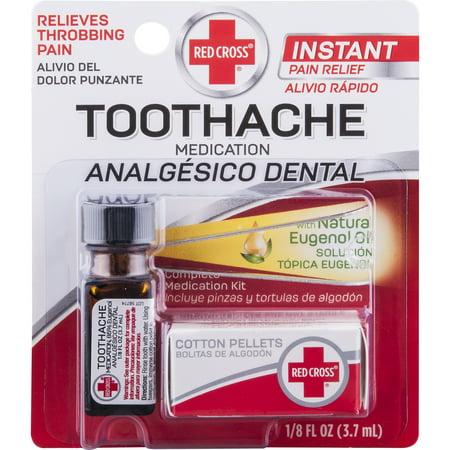 Red Cross Toothache Medication 0 125 Fl Oz Walmart Com