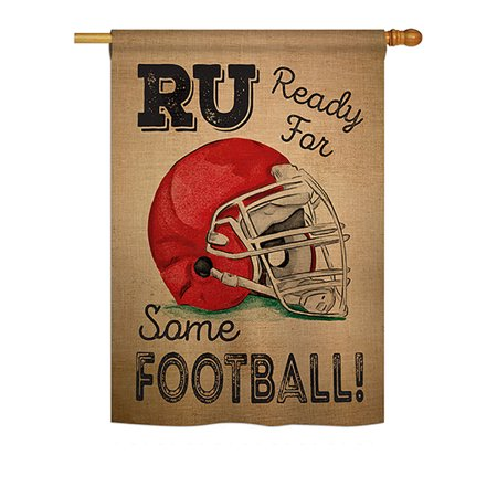 Ornament Collection - Ready for Some Football Interests - Everyday Sports Impressions Decorative Vertical House Flag 28