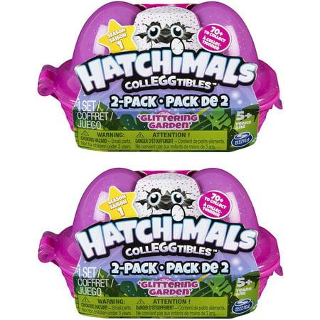 Hatchimals Colleggtibles Season 1 Glittering Garden Lot Of 2 Mystery 2 Packs