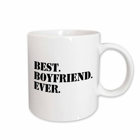 3dRose Best Boyfriend Ever - fun romantic love and dating gifts for him - for anniversary or Valentines day, Ceramic Mug,