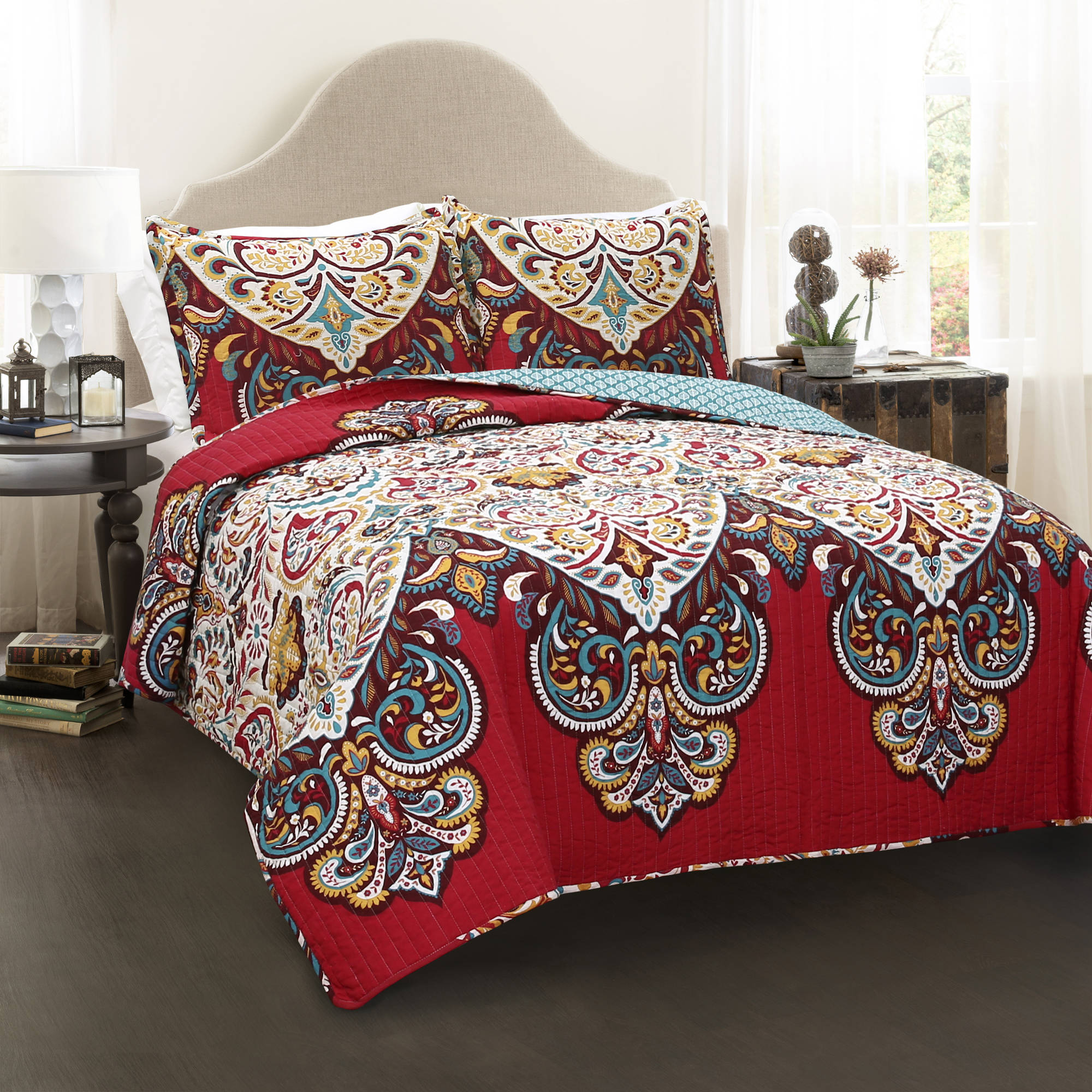 Boho Chic Quilt 3pc Set by Generic