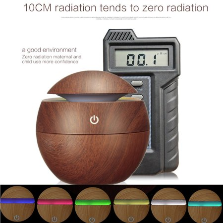 MOHOO Wood Grain Aroma Diffuser Whisper Quiet Cool Mist Air Purifier Ultrasonic Humidifier With 6 Color LED Lights Changing 6 Timer (Whisper Wool)