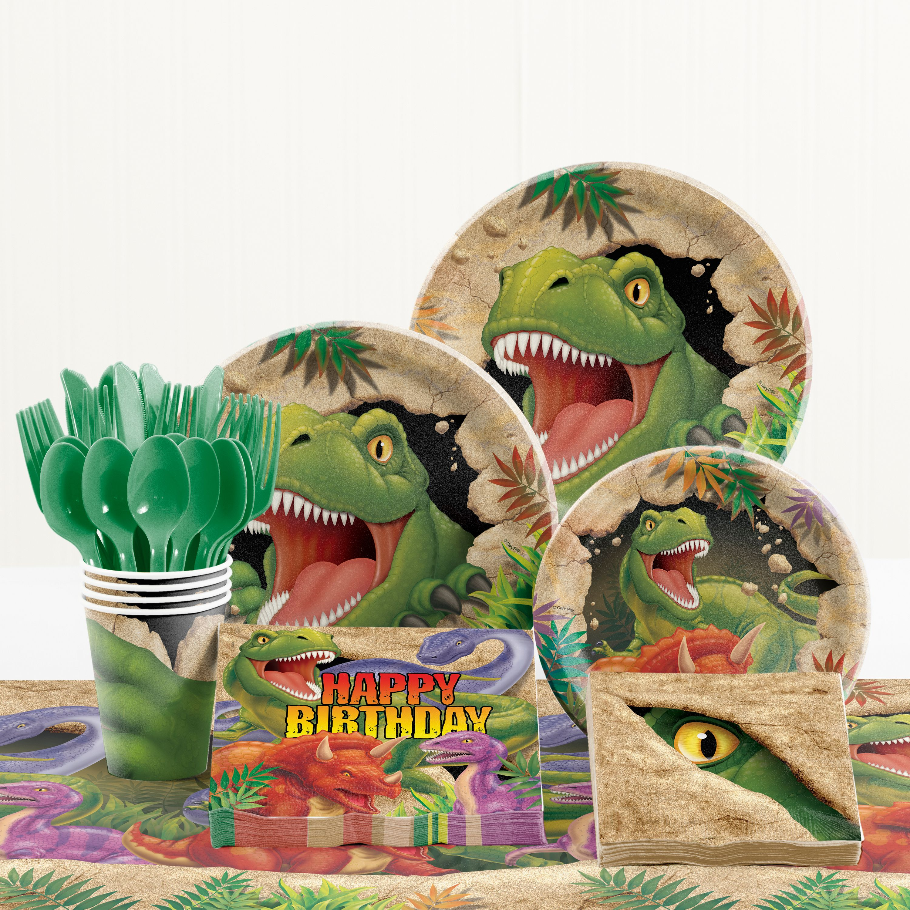Dinosaur Birthday Party Supplies Kit