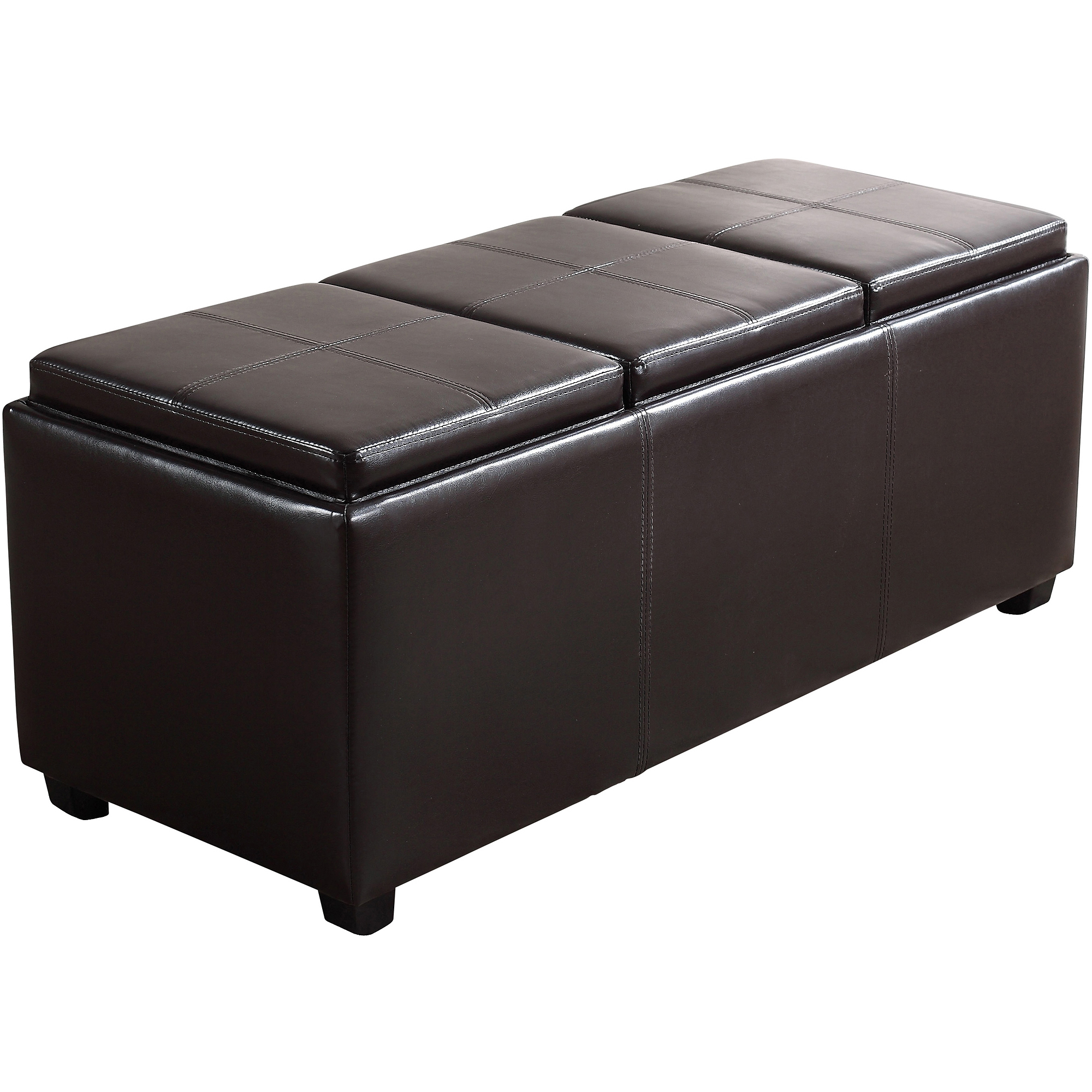 Avalon Extra Large Storage Ottoman with 3 Serving TraysWalmartcom