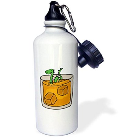 Funny Monster (3dRose Funny Loch ness Monster in Scotch Whiskey Glass, Sports Water Bottle,)