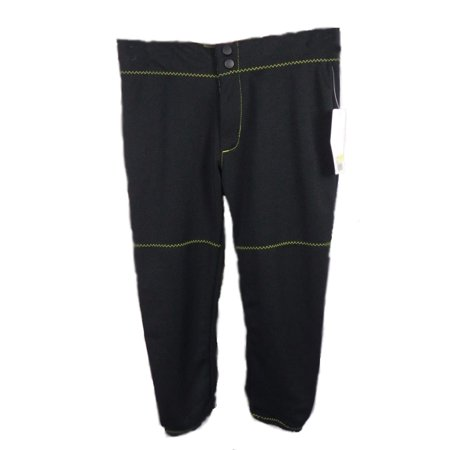 Girls Stinger Softball - Intensity By Girl Softball Baseball Pants Black Yellow Style N5300Y