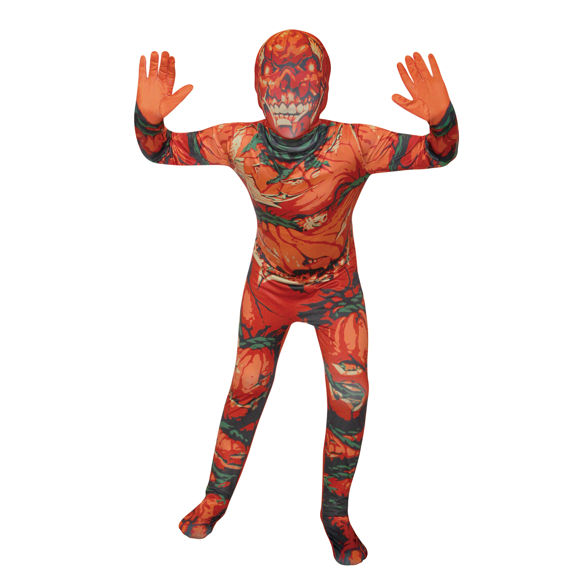 Halloween Boy Pumpkin Skinsuit L