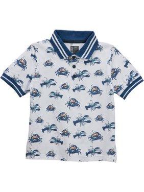 No Retreat Fashion Print Short Sleeve Polo Shirts (Little Boys & Big Boys)