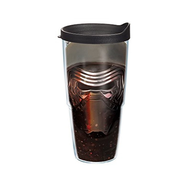 Tervis Star Wars Force Awakens Kylo Ren Mask Tumbler with Travel Lid, 24 oz, Clear