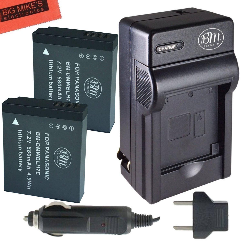 Bm Premium 2 Pack Of Dmw Blh7 Batteries And Charger For Panasonic Lumix Dmc Lx10 Digital Camera Black Dc Gx850 Lx15 Gm1 Gm1k Gm1ka Gm1ks Gm5 Gm5kk