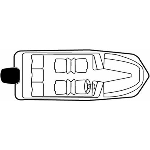 Carver Flex-Fit Poly-Flex Boat Cover for 17' to 19' Tri-Hull Boats I/O or O/B and V-Hull Boats I/O or O/B