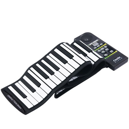 KKmoon 88 Key Electronic Piano Keyboard Silicon Flexible Roll Up Piano with Loud Speaker