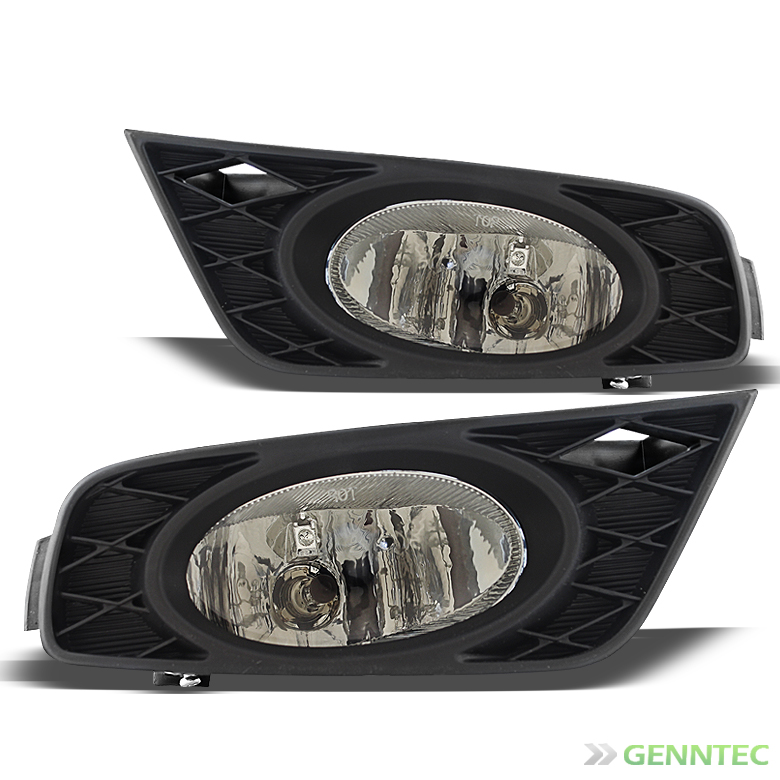 2008-2010 Odyssey Smoked Replacement Fog Lights w/Bulbs, Switch, Harness, Relay 2009 Pair Left+Right