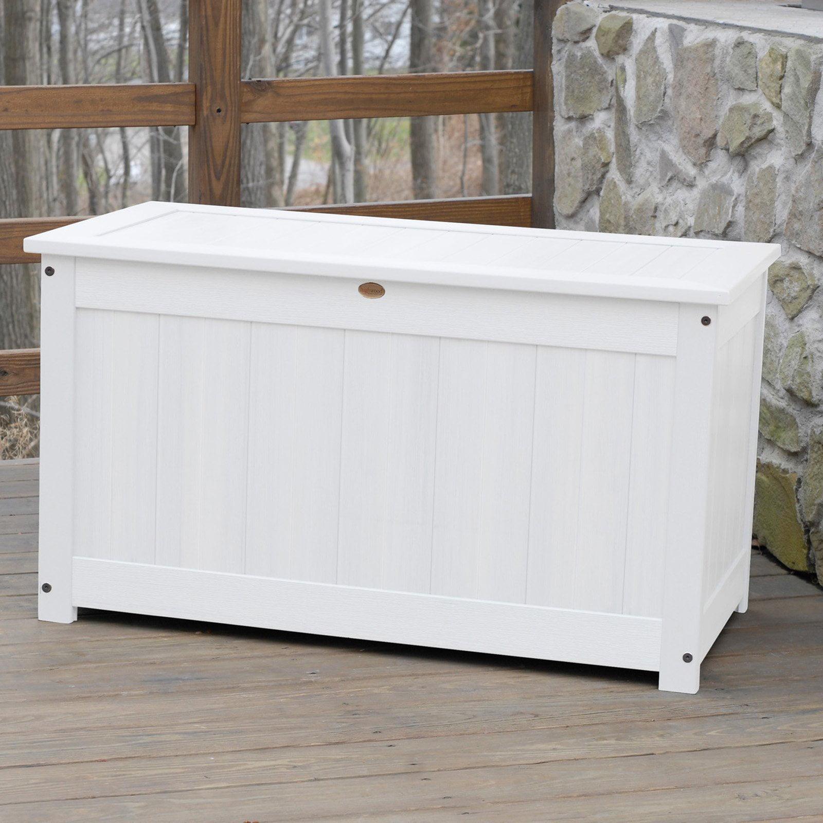 Highwood 42 In Large Recycled Plastic 100 Gallon Deck Storage Box Walmart Com Walmart Com
