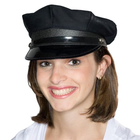 Black Police/Chauffeur Hat (Cheap Chauffeur Hats)