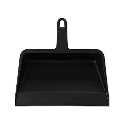 Impact 710 Value-Plus Polypropylene Dust Pan, 11 1 2w x 11d x 4h, Black, 12 Carton by IMPACT