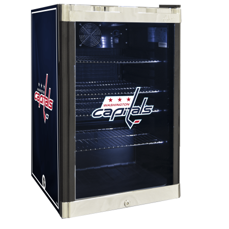 NHL Refrigerated Beverage Center 4.6 cu ft Washington Capitals by