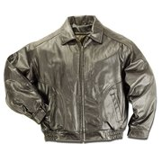 Reed Men's All American Bomber Leather Jacket Union 2XL Brown