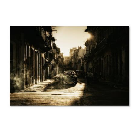 Trademark Fine Art 'Mystic Morning In Havana' Canvas Art by Baris Akpinar