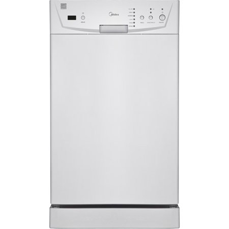 Midea 18  Built-In Dishwasher Midea 18  Built-In Dishwasher:8-place setting capacity6 wash cycles1-24-hour delay startDurable stainless steel interiorAutomatic detergent and rinse agent dispenserFits under most kitchen cabinetsDimensions: 20.05 L x 17.20 W x 32.30 H1-year warranty