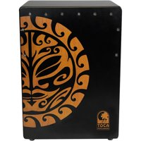Toca Extended Range Bass Reflex Cajon With Adjustable Snares Tiger