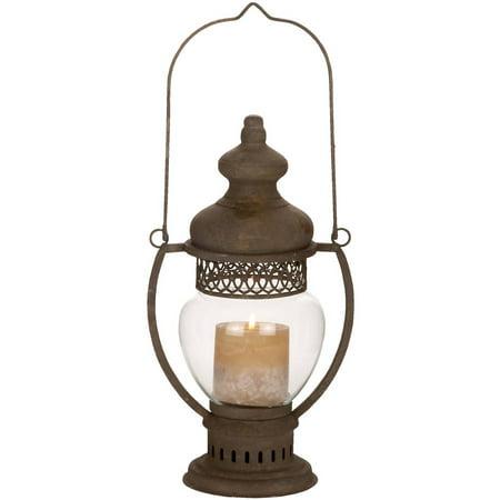 Decmode Metal and Glass Lantern, Multi - Lantern Ring Colors