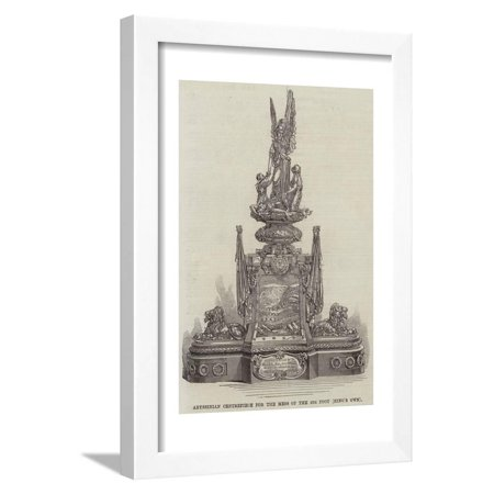 Abyssinian Centrepiece for the Mess of the 4th Foot (King's Own) Framed Print Wall Art