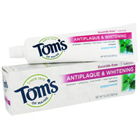 Toms Of Maine Antiplaque And Whitening Natural Toothpaste, Peppermint - 5.5 Oz, 6 Pack