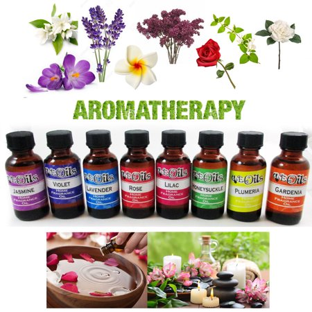 8 Aroma Therapy Oils Home Flower Fragrance Spa Diffuser Burner Air Purifier (Fragrance Diffuser Blossom Collection)